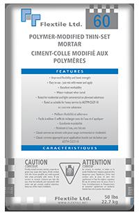 60 Polymer Modified Thin Set Mortar Flextile
